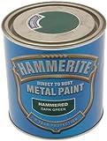 Hammerite HAM6722701 250ml Metal Paint - Hammered Dark Green
