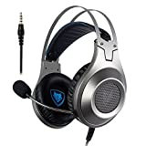 #10: Gaming Headset, NUBWO 3.5mm Surround Stereo Wired Gaming Headphones with Microphone and Volume Control for PC/Ps4/Xbox one/Phone/Laptop (Sliver 3.5mm Plug)