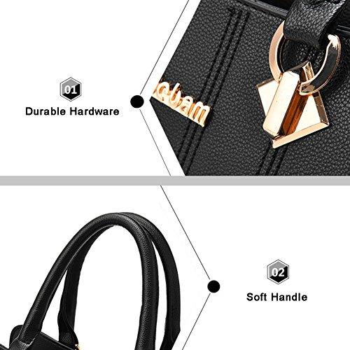 Yoome Medium Crossbody Handtaschen für Frauen Hardware Anhänger Top Handle Handtaschen Elegant Taschen - D.Pink D.Pink