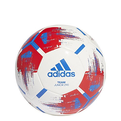 adidas Herren Team Junior Ball Fußball, White/Red/Blue/Silvmt, 4