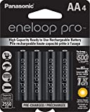 Panasonic eneloop Pro AA Rechargeable Ni-MH Batteries 2550 mAh (Pack of 4)
