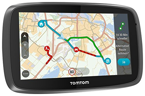 TomTom Go 510 World Navigationssystem (13 cm (5 Zoll) kapazitives Touch Display, Magnethalterung, Sprachsteuerung, mit Traffic/Lifetime Weltkarten)