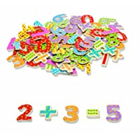 Tidlo T0074 Wooden Magnetic Numbers and Symbols (100 Pieces)