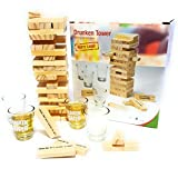 Bambelaa! Trinkspiel Partyspiel Wackelturm Drunken Tower inklusive vier Trinkgläser ca. 4cl