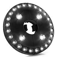 AMIR LED-Schirmleuchte, Cordless 28 LED Patio Umbrella Light, 3 Modi Sonnenschirm beleuchtung, Batteriebetriebene Regenschirm Pole Light Zelt Licht für Regenschirme, Camping Zelte oder Outdoor Use