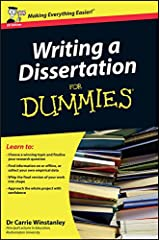 Writing a Dissertation For Dummies Paperback