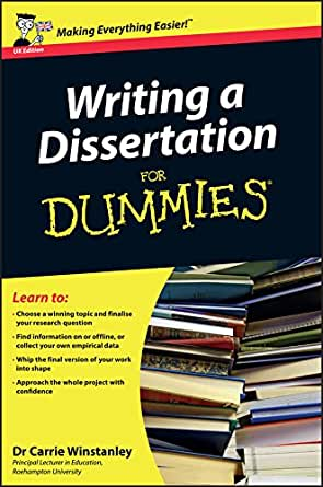 Writing a dissertation for dummies reference