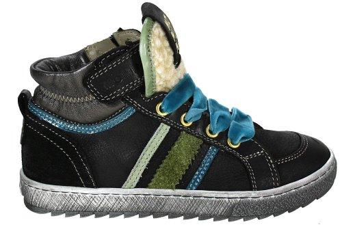 Momino ELOUR Leder Schwarz ELOUR hoher Sneaker hoher ungefuettert 5zPPTq