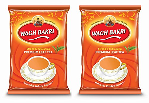 Wagh Bakri Leaf Tea Pouch (500g) - Pack of 2