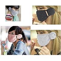 Anti Dust Winter Warm Baumwolle Polka Dot Ohrbügel Gesicht Mund Maske für Frauen Jugendliche 3Randon Farbe preisvergleich bei billige-tabletten.eu