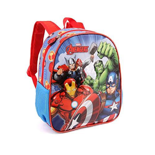 Karactermania The Avengers Force-Nursery Backpack Kinder-Rucksack, 30 cm, 7 liters, Mehrfarbig (Multicolour)