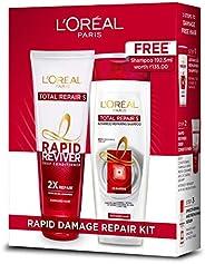 L'Oreal Paris Total Repair 5 Rapid Reviver Conditioner, 175ml with Total Repair 5 Shampoo, 175ml Free, 372