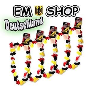 Blumenkette 5x Hawaiikette Deutschland EM Artikel 2016 Fan Europameister JEB