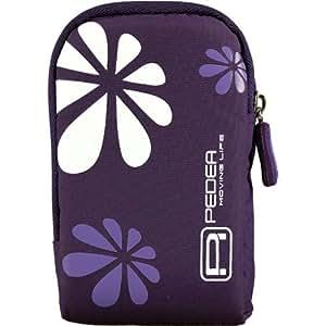 Pedea Kameratasche mit Schutzfolie für Canon PowerShot A4000 IS/S100/S95/SX210 IS/S/SX220/SX260 lila