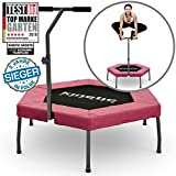 morocca Kinetic Sports Mini-Trampolin Fitness Hexagon Sechseckig mit Griff Indoor PINK