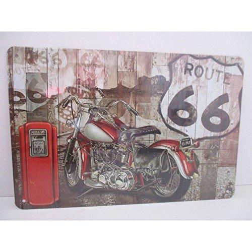 """Price comparison product image Metal Plaque """"Motorcycle Fuel Pump 30cm x 20cm"""