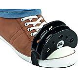Meinl Percussion FJS2S-BK Foot Tambourine met roestvrijstalen klemmen, zwart