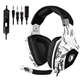 SADES SA618 Gaming Headsets Casques pour Nouvelle Xbox One PS4 PC Portable Mac Mobile - Camouflage