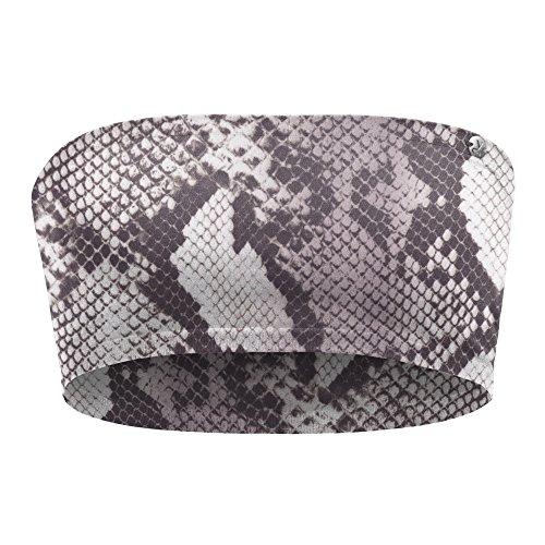 kidneykaren Damen Bandeau- Multitube Top Mini- Tube Fitness & Freizeit Raw Python (Schlangen Muster), Größe:S Python Mini