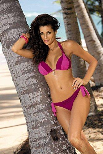 ... EU Lila-Pink. Marko Amber M-260 bezaubernder Bikini-Set, Neckholder, Top  Qualität, Made