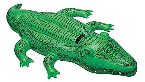 Intex 58546NP, Aufblasbares Reittier - Schwimmtier - Badetier Kleines Krokodil in ca. 168 x 86 cm mit robustem Haltegriff