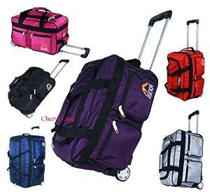 Mens Womens 18 Hand Luggage Wheeled Holdall Flight Travel Suitcase Weekend Bag Blacknavyredpinkpurplesilver Red