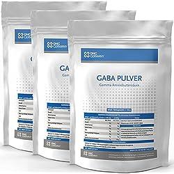 450g GABA (3x 150g - 100% Ohne Zusätze) 150 Portionen - Reine Gamma Amino Buttersäure Pulver, Aminosäuren, Wachstumshormon-Ausschüttung, Muskelaufbau, Regeneration In bester Premium Qualität