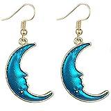 Bellelove Femmes Longue Boucle D'oreille Belle Mode Multicolore Bleu Étoile Lune...
