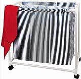 Wäschewagen auf Rollen mit 3 Fächern