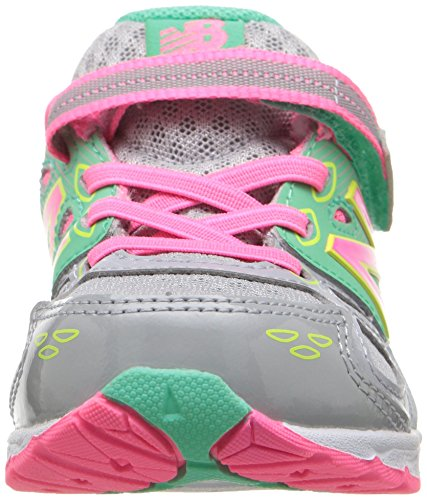 New Balance KA680 Infant Running Shoe (Infant/Toddler) Grey/Pink/Lime Glo