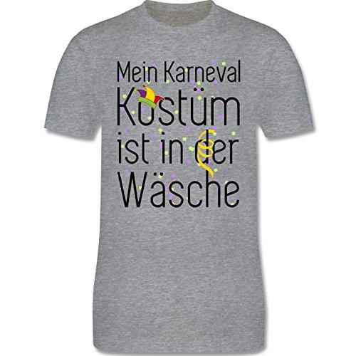 Karneval & Fasching - Mein Karneval Kostüm ist in der Wäsche - Herren Premium T-Shirt Grau Meliert