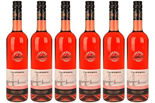6 Flaschen á 0,75 l OverSeas California Zinfandel rosé, lieblich