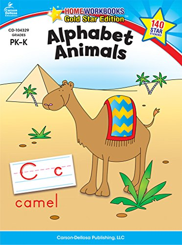 Alphabet Animals, Grades Pk - K: Gold Star Edition (Home Workbooks: Gold Star Edition)