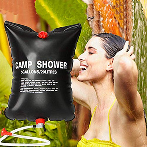 FDSEP Outdoor-Solarbadetasche Sonnenbadetasche Home Field Shower Room top duschtasche dusche 20L schwarz
