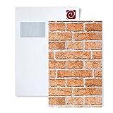MUESTRA de papel pintado EDEM serie 583   efecto muro de ladrillos, 583-XX:S-583-23