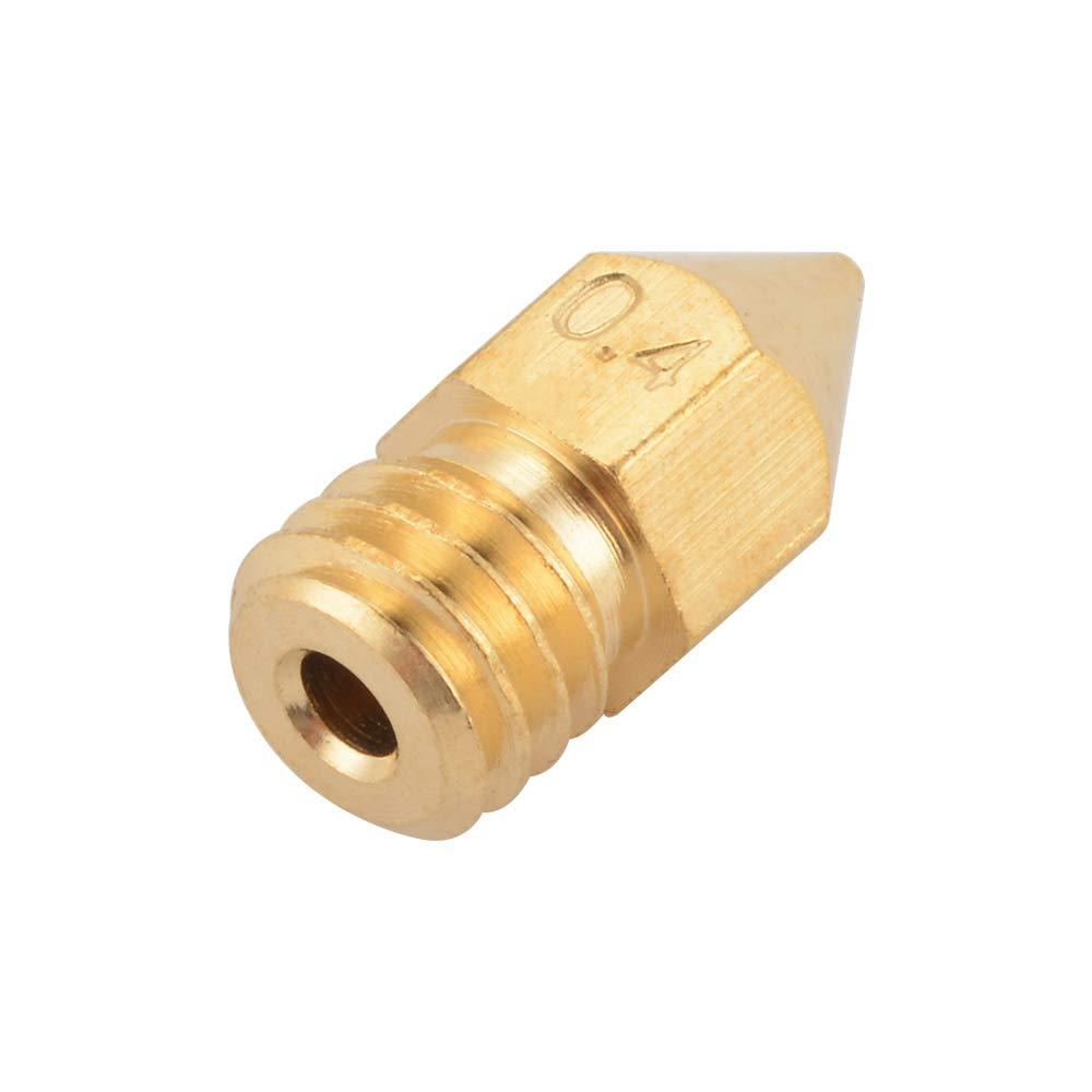 10 PCS 3D Printer 0.4mm Extruder Brass Nozzle Print Head for MK8 1.75mm ABS PLA Printer
