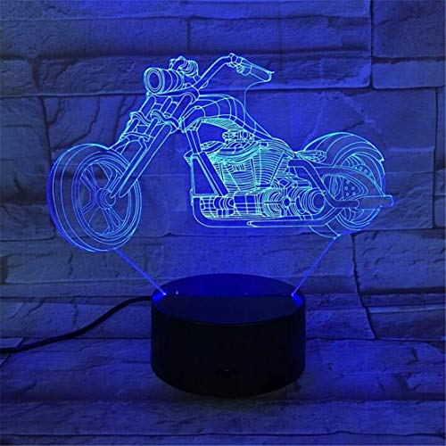 Led Light Edison Lampada Retro Chandelier 7 colori che cambiano 3D Led Lamp Big Wheel Racing Moto luci portatili