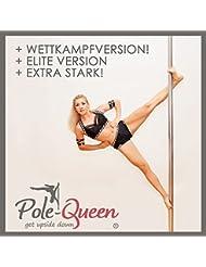 Pole Dance Barra Original Pole de Queen© Elite versión Danza Barra Poledance Barra para el hogar–Top de calidad–Garantía de satisfacción garantía–Spinning & estática Función–sin agujeros–de gran calidad cromado