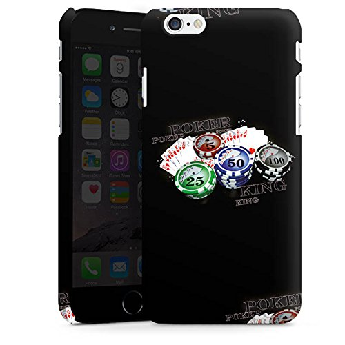 Apple iPhone X Silikon Hülle Case Schutzhülle Poker Kartenspiel Casino Premium Case matt