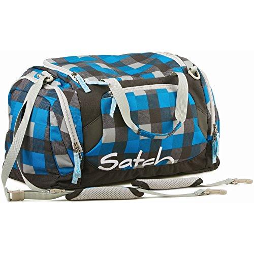 Satch Grinder borsa sportiva SAT DUF-001-216, 50 cm, 25 L, Verde Blu (Blue Grey Checks)