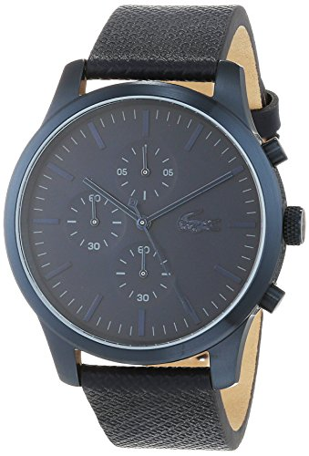 Lacoste Unisex-Adult Chronograph Quartz Watch with Leather Strap 2010948