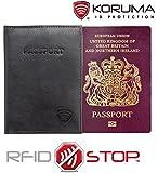 RFID Blocking Travel Biometric Passport Leather Wallet Holder Cover Case