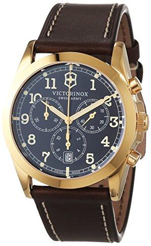 Victorinox Swiss Army Herren-Armbanduhr Analog Quarz Leder 241647