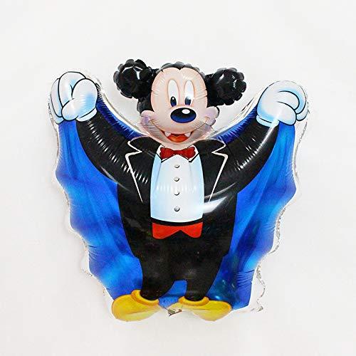 Ya1&Ya Party Supplies_Halloween Ballon Kürbis Kopf Spinne Geist Festival Party Schwarz Orange Ballon Halloween Dekoration, Mickey Mouse (10 Pack)