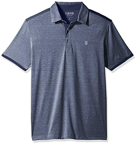 IZOD Men's Golf Cool Flex Short Sleeve Polo, Club Blue, Large