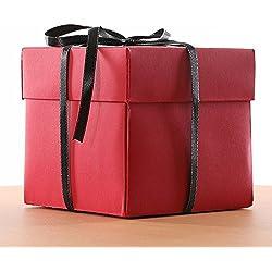 Fiesta de cumpleaños sorpresa caja de regalo de sorpresa Álbum de fotos de álbum de recortes creativo DIY con kit de accesorios para regalo de cumpleaños