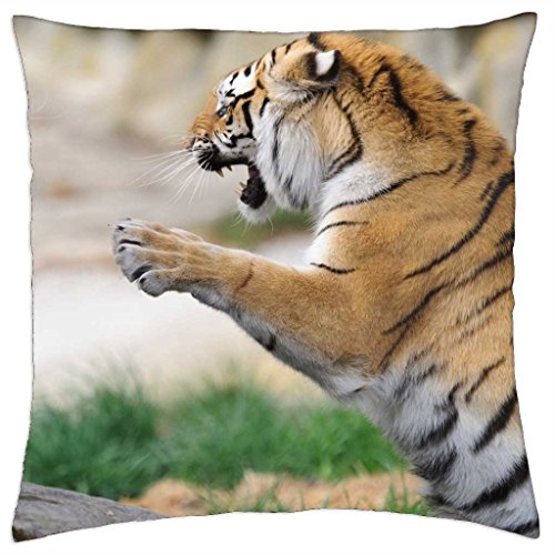 iRocket - Fighting Tigers - Throw Pillow Cover (24