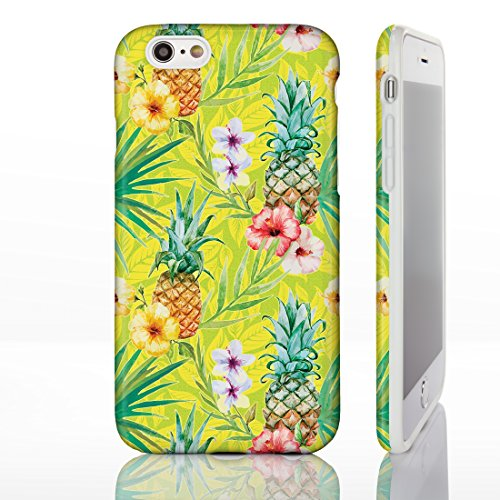 Hawaiian Floral Tropical Luau Party Handyhüllen für iPhone Modelle, Exotic Cactus, Hibiskus, Flamingo, Palm Spring Designs von iCaseDesigner, 23: Cactus in Pots on Teal Chevrons, iPhone 6+ / 6S+ Plus  1: Hibiscus and Pineapples on Lime Green