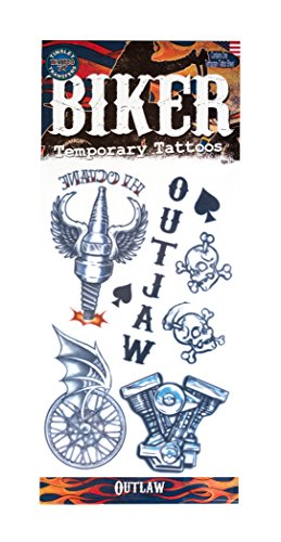 Tinsley Transfers Outlaws Biker Temporary Tattoo FX Costume Kit by Tinsley (Kit Biker)
