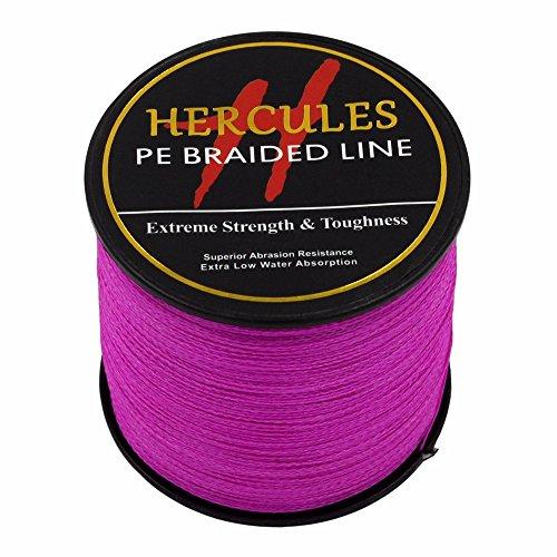 Hercules 300?m 328yds Pink 6lbs-100lbs PE Geflochtene Angelschnur Spectra 4?Str?hnen, Rose